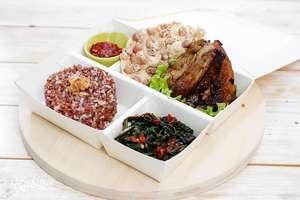 Kulina - Ayam Bakar dan Tumis Kangkung (Nasi Merah)