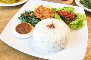 Nasi Dendeng Cabe merah